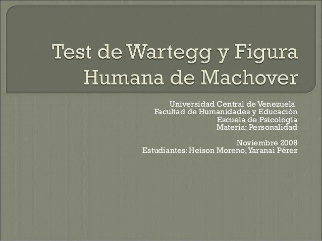 Universidad Central de Venezuela   Facultad de Humanidades y Educación                   Escuela de Psicología            ...