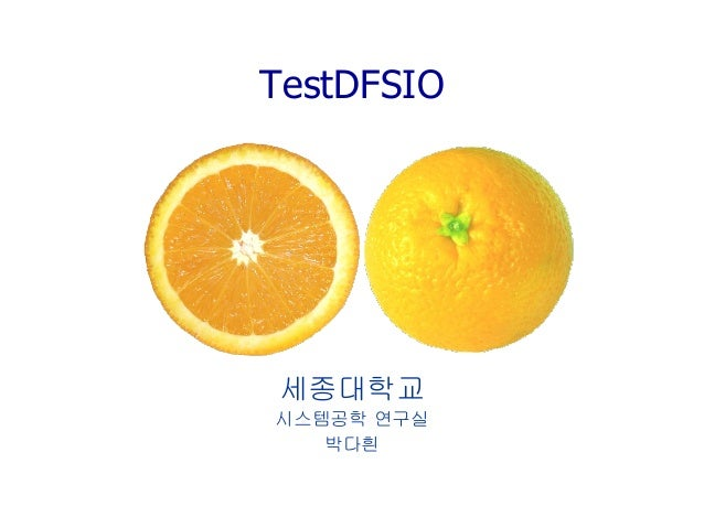 TestDFSIO  세종대학교  시스템공학 연구실  박다흰