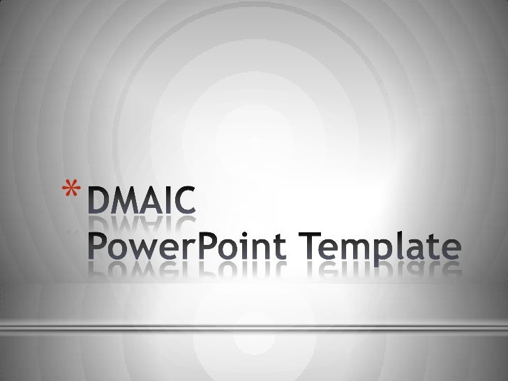dmaic quality powerpoint template