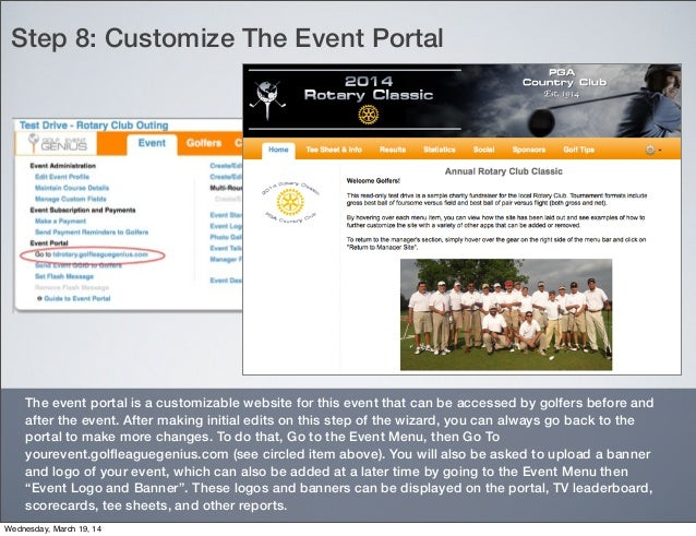 GolfEventGenius - Simple Steps for a One-Day Charity Event