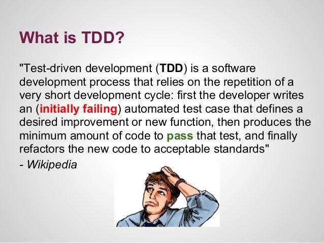 Test driven development Slide 3