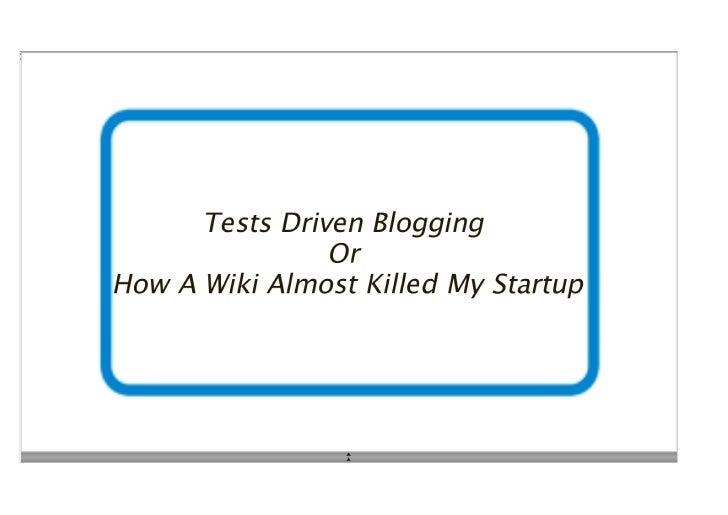 Test driven documentation