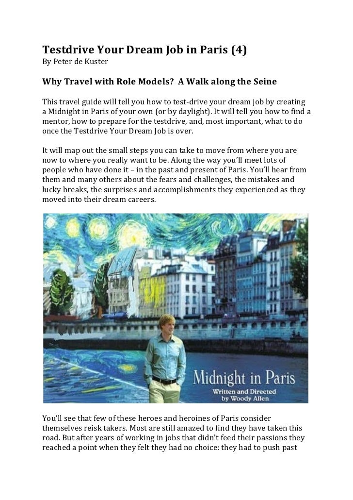 Testdrive Your Dream Job in Paris (4) By Peter de Kuster  Why Travel with Role Models? ...