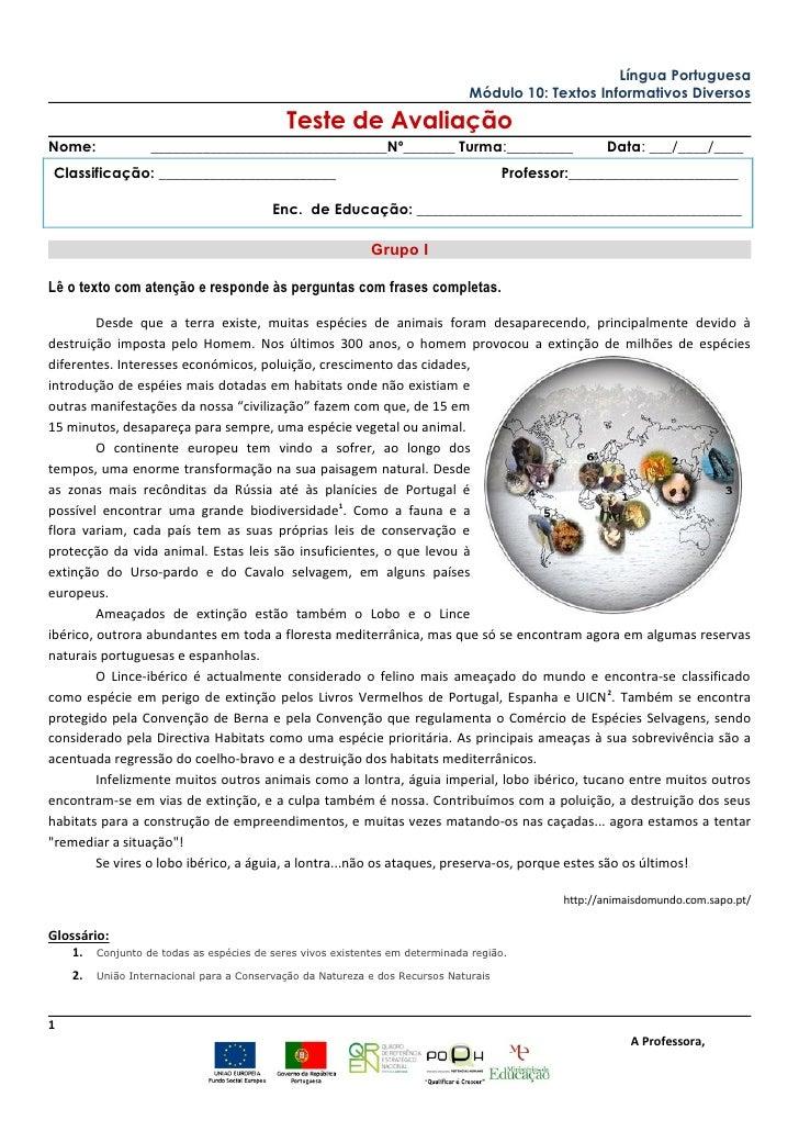 Língua Portuguesa                                                                               Módulo 10: Textos Informat...