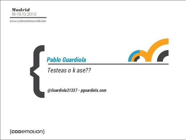Pablo Guardiola Testeas o k ase?? @Guardiola31337 - pguardiola.com