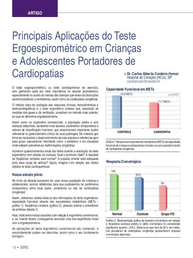 12 DERC Principais Aplicações do Teste Ergoespirométrico em Crianças e Adolescentes Portadores de Cardiopatias > Dr. Carlo...
