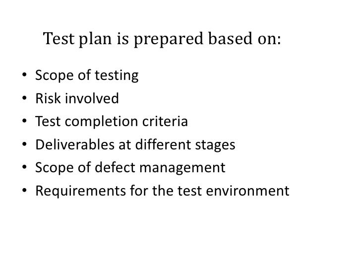 Executing test cases
