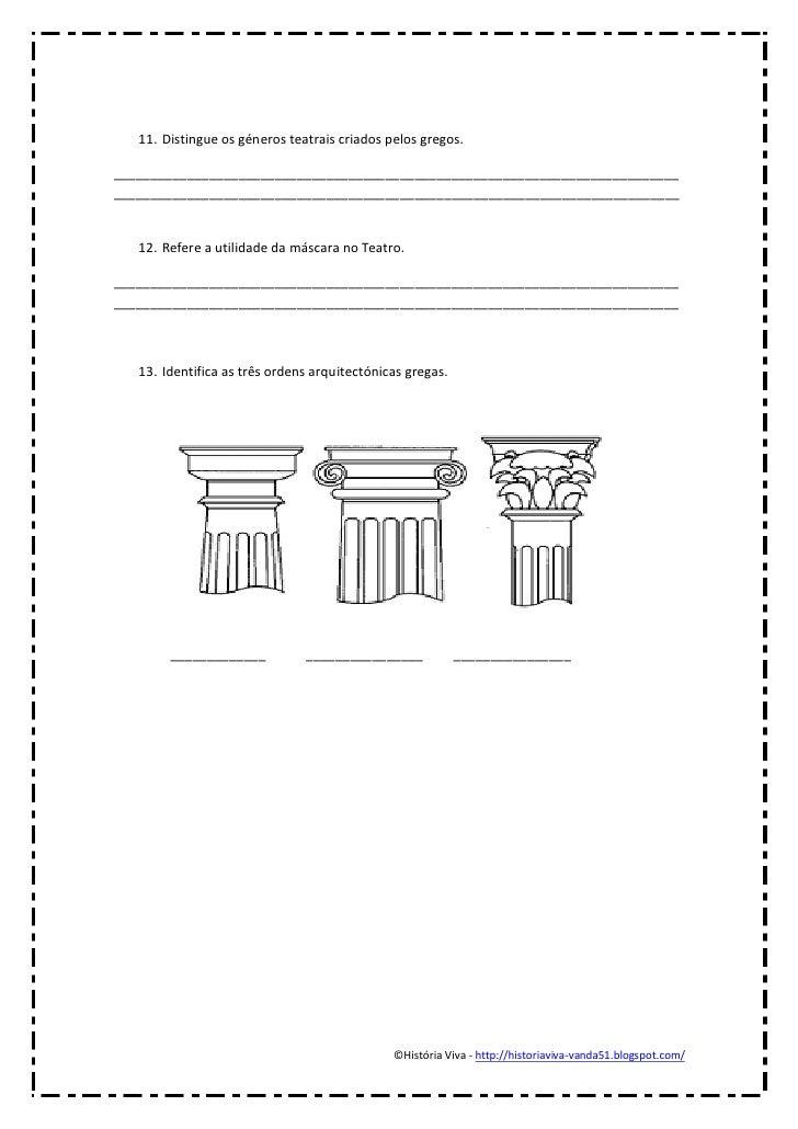 11. Distingue os géneros teatrais criados pelos gregos.___________________________________________________________________...