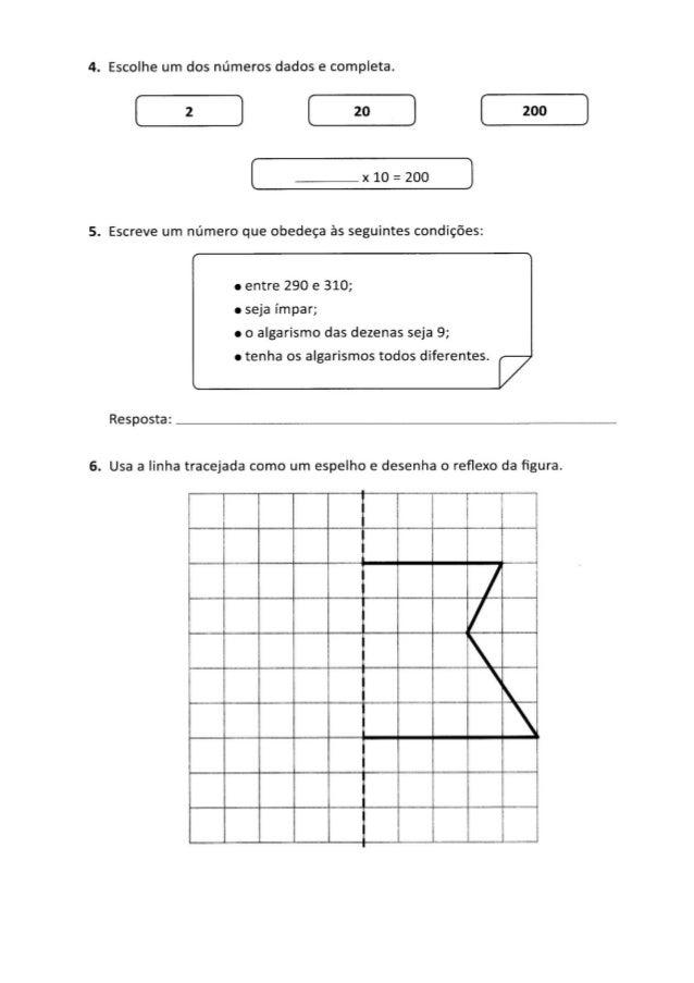 Teste intermédio de matemática Slide 3
