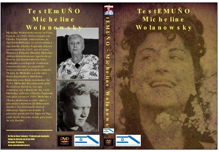 TestEMUÑO Micheline Wolanowsky TestEMUÑO - Micheline Wolanowsky Micheline Wolanowsky naceu en Paris, Francia, en 1925. Est...