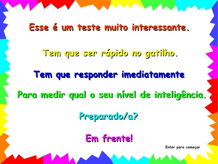 """Introdução aos """"testes de QI"""" Por Hindemburg Melão Jr. http:// ..."""