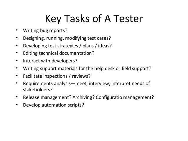 Tester Performance Evaluation