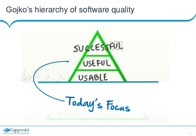 Gojko's hierarchy of software quality  3