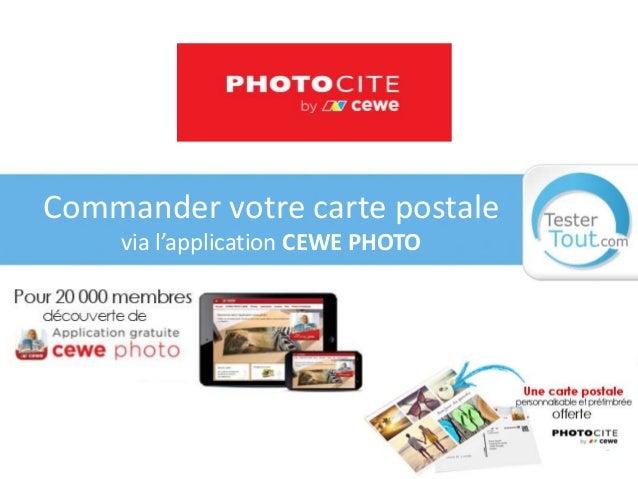 Commander votre carte postale via l'application CEWE PHOTO