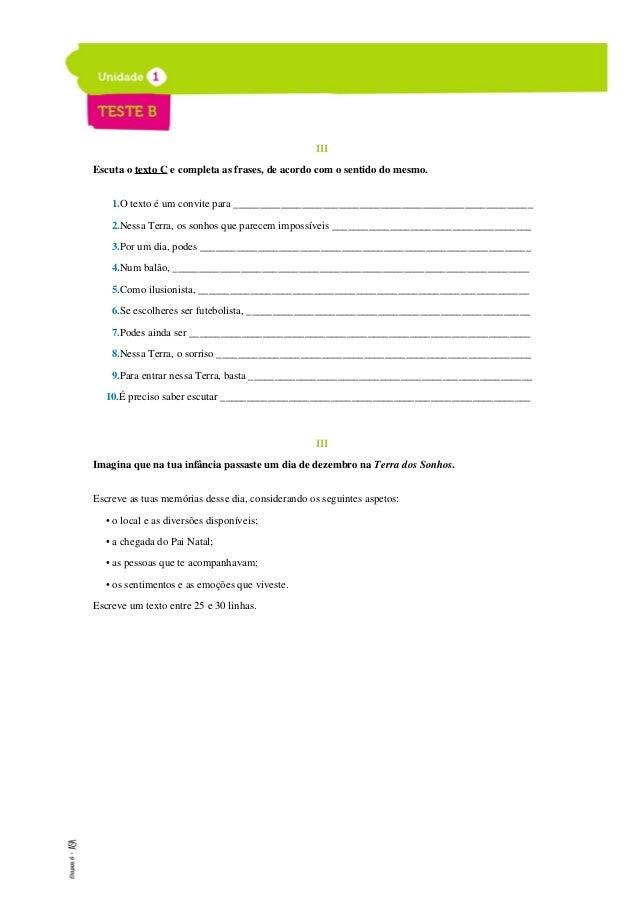 ETAPAS 6 Livro de testes 4. Imagina como se sentiu o principezinho ao despedir-se da raposa. Escreve duas palavras que des...
