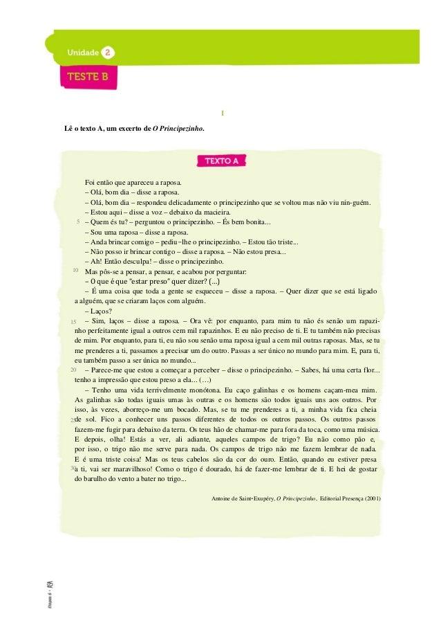 ETAPAS 6 Livro de testes A B e)gases produzidos pelos organismos vivos 5.metano e óxido nítrico 6.atmosfera de Vénus f)pro...