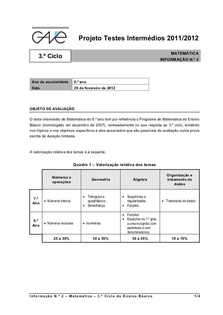 Projeto Testes Intermédios 2011/2012                                                                                     M...