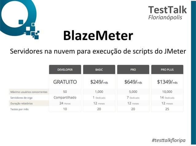 BlazeMeter  TestTalk  Florianópolis  Servidores  na  nuvem  para  execução  de  scripts  do  JMeter  #tes%alkfloripa
