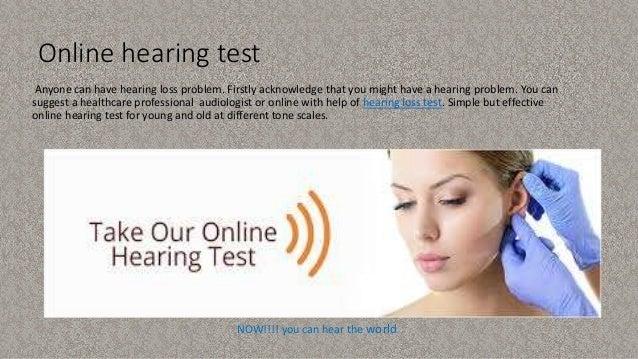 Test for hidden hearing loss