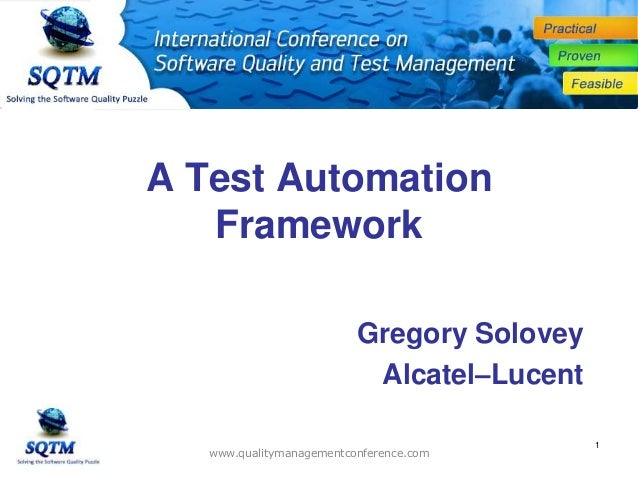 how to build an automation test framework