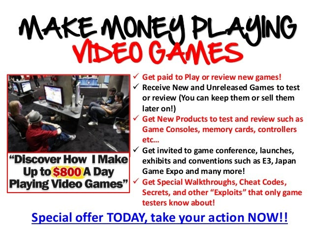 Special offer TODAY, take your action NOW!! Get paid to Play or review new games! Receive New and Unreleased Games to te...