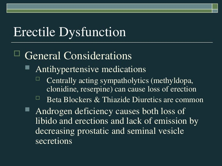 can beta blockers cause erectile dysfunction
