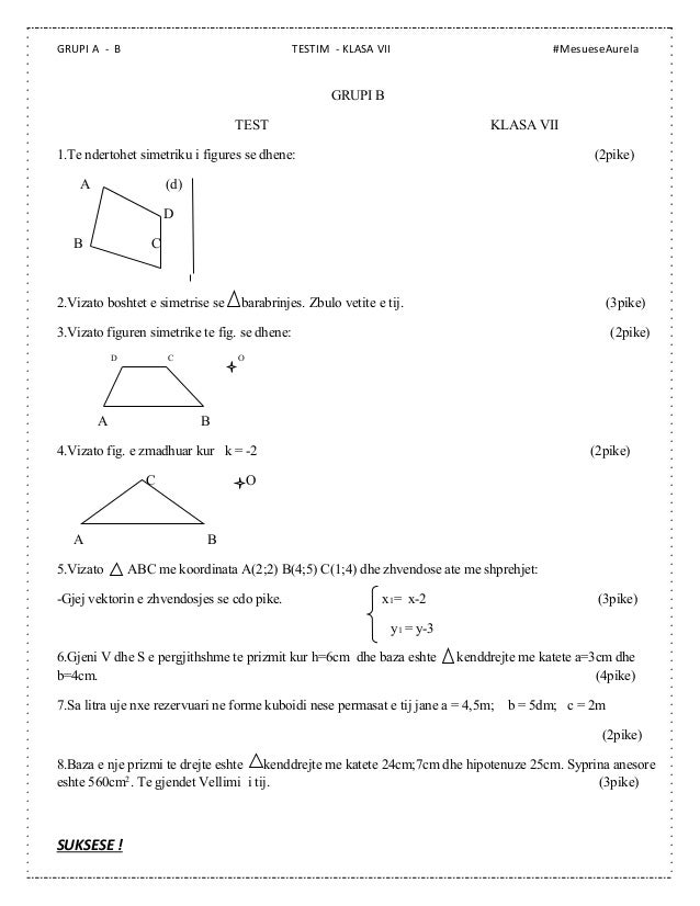 Test matematik shqip online dating