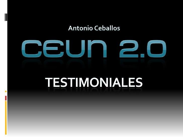 Antonio Ceballos<br />Testimoniales<br />