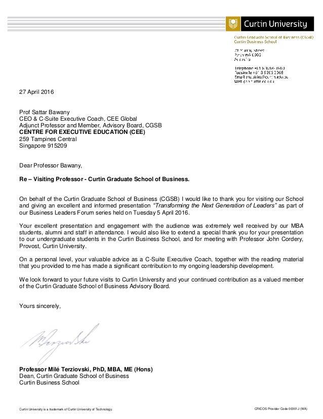 CRICOS Provider Code 00301J (WA)Curtin University is a trademark of Curtin University of Technology. 27 April 2016 Prof Sa...