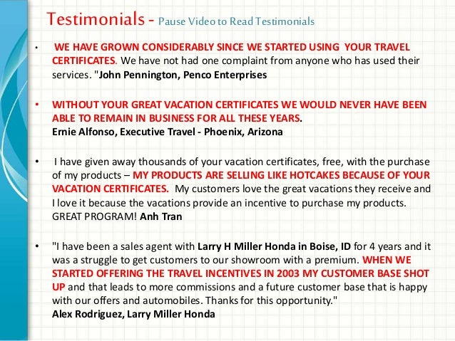 increase leads and appointments and sales with vacation certificates