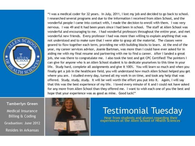 Testimonial tuesday  Tamberlyn Green - mibc