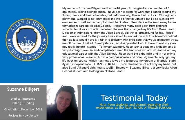 Suzanne BillgertMedical InsuranceBilling & CodingGraduation: December 2013Resides in New JerseyHear from students and alum...