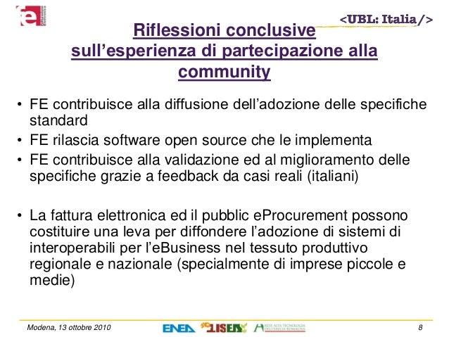Riflessioni conclusive sull'esperienza di partecipazione alla community • FE contribuisce alla diffusione dell'adozione de...