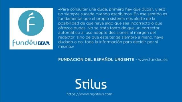 Los testimonios de Stilus Slide 3