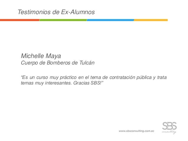 Testimonios ex alumnos: COMPRAS PÚBLICAS - 22 marzo Slide 3