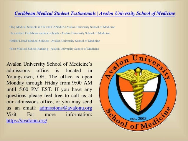 Caribbean Medical Student Testimonials Avalon University School Of