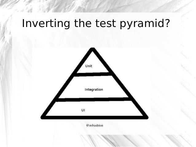 Inverting the test pyramid?  @robashton