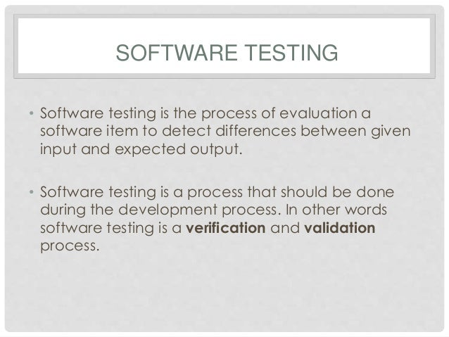 Testing System Analysis And Design