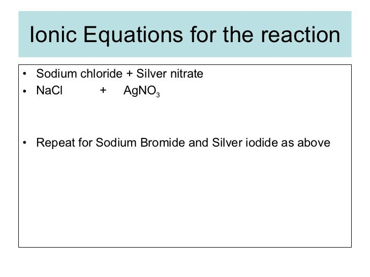 Testing And Identifying Anions