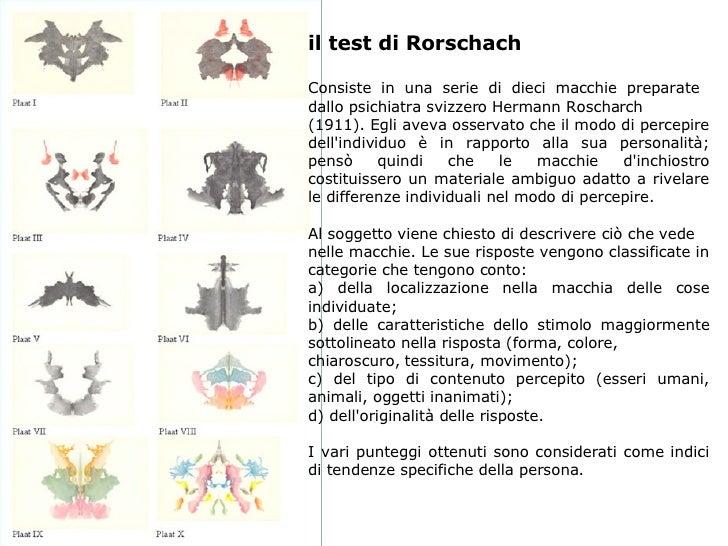 Testing colloquio - Tavole di rorschach interpretazione ...