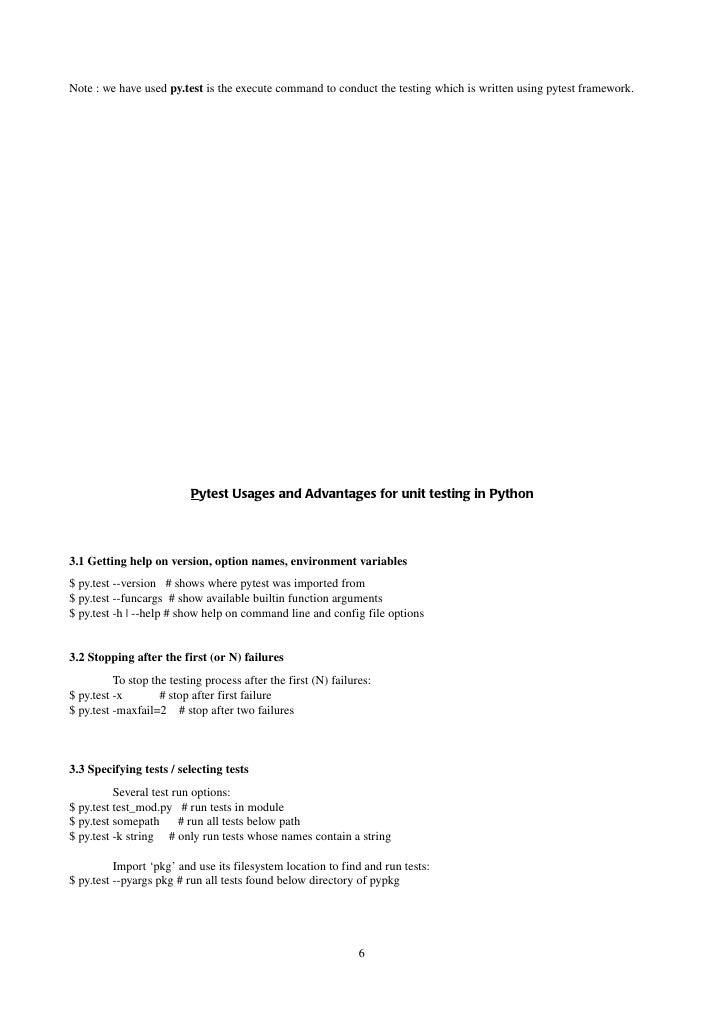 Testing in-python-and-pytest-framework