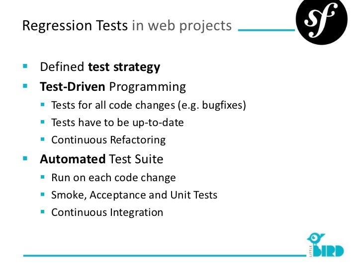 Regression Testing with Symfony