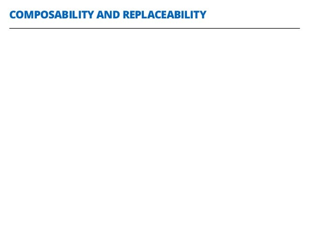 COMPOSABILITY AND REPLACEABILITY