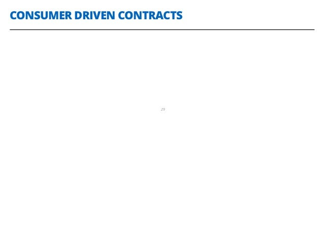 CONSUMER DRIVEN CONTRACTS 29