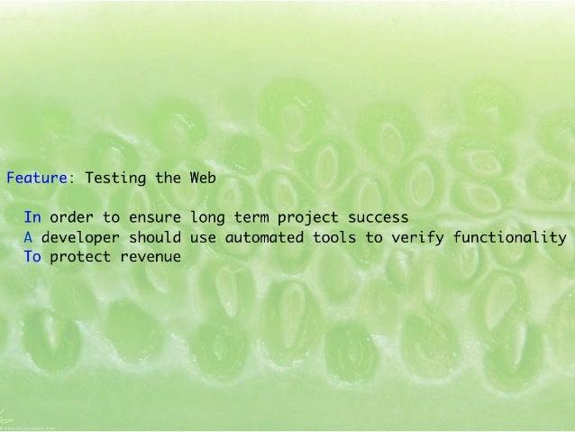 Testing the web