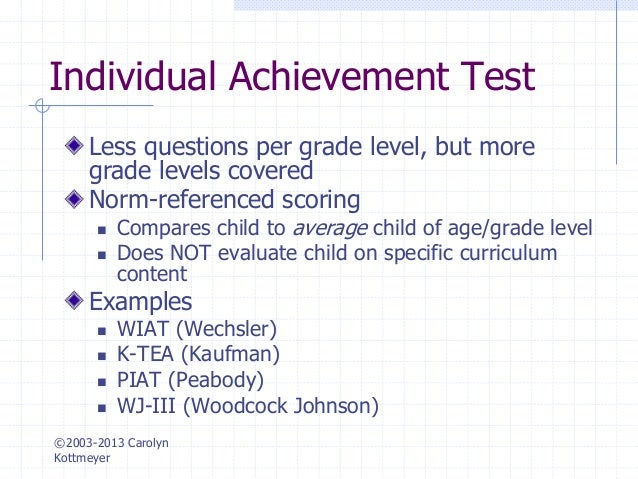 Hoagies' Gifted: Testing and assessment of the Gifted