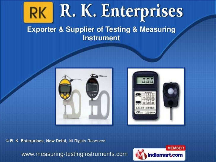 Exporter & Supplier of Testing & Measuring               Instrument