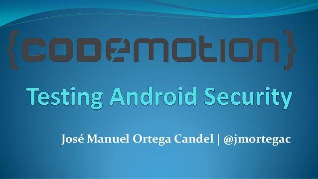 José Manuel Ortega Candel | @jmortegac