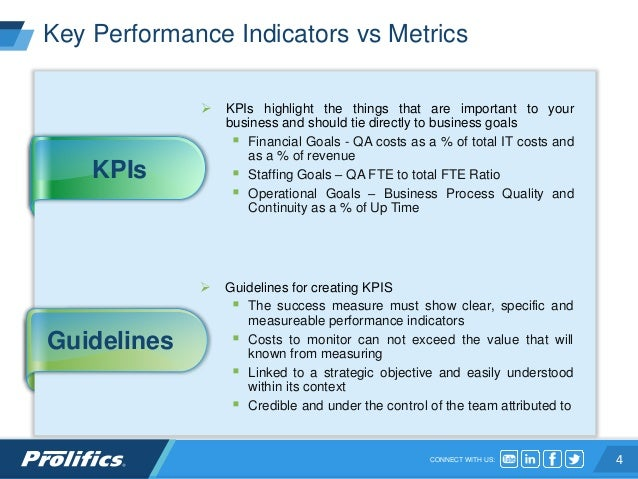Testing as a Managed Service using SLAs and KPIs
