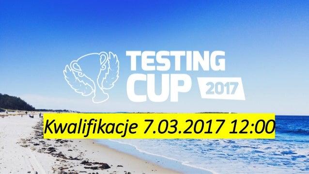dla zawodników Radek Smilgin Kwalifikacje 7.03.2017 12:00